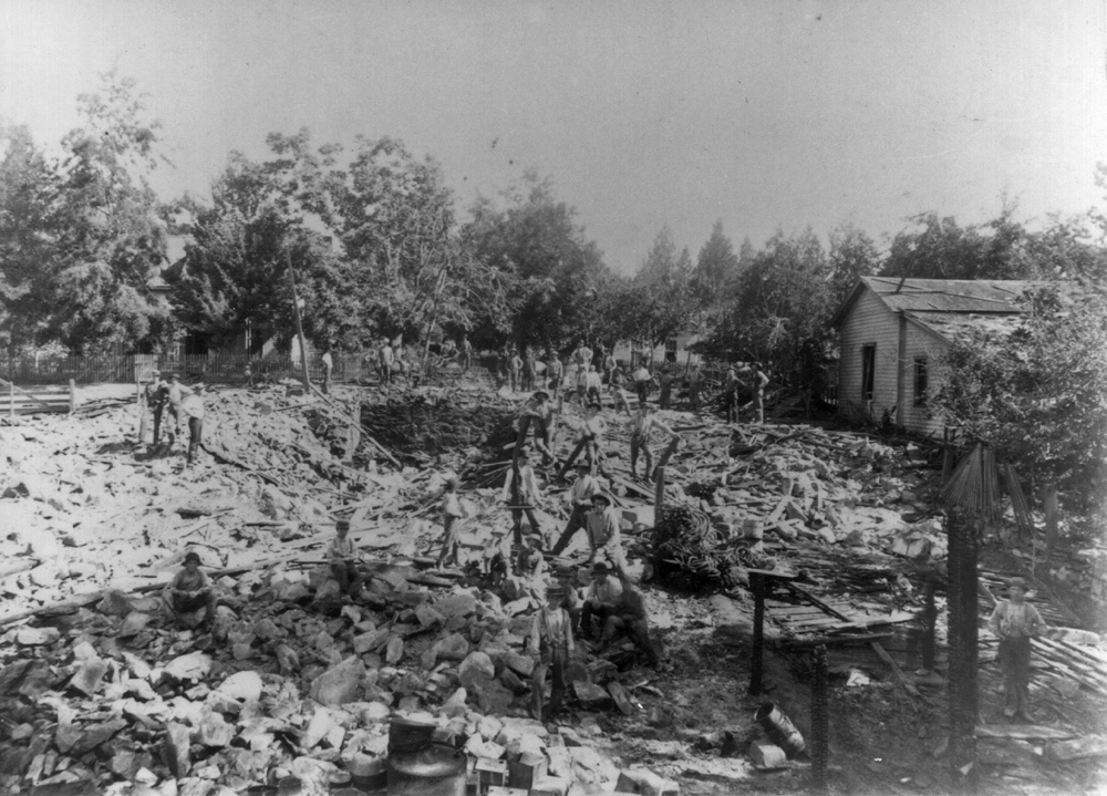Rubble after the Black Powder Explosion of July, 1893.