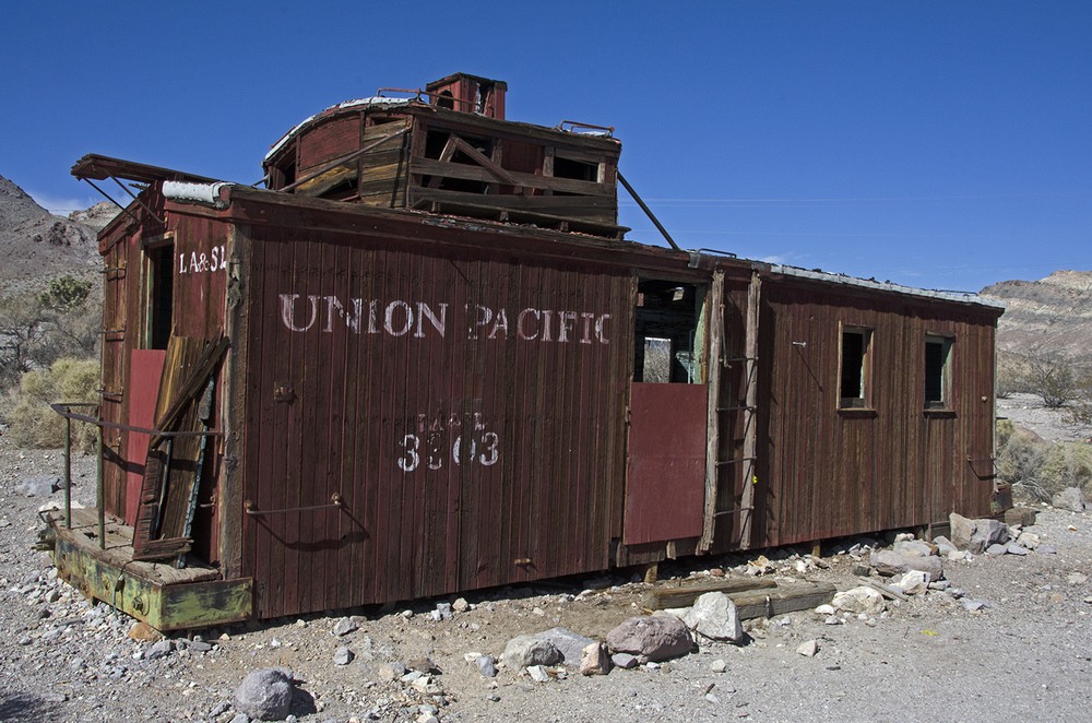 An old caboose near the train depot.
