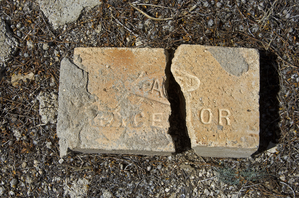There are lots of old bricks around the area.