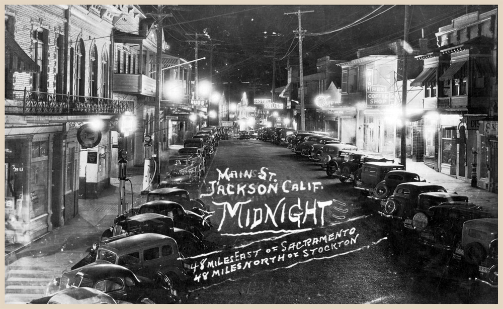 Real photo post card, Main Street, Jackson, circa 1940s