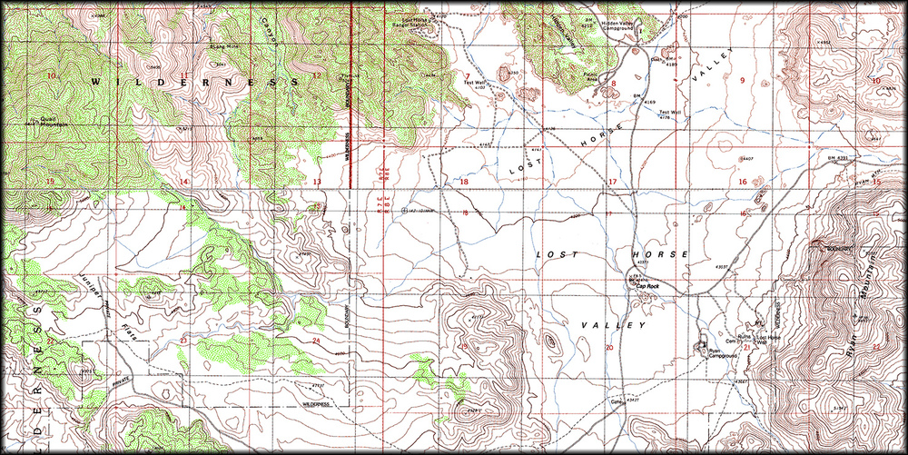 Joshua Tree Topographic Map.Lost Horse Valley Cali49