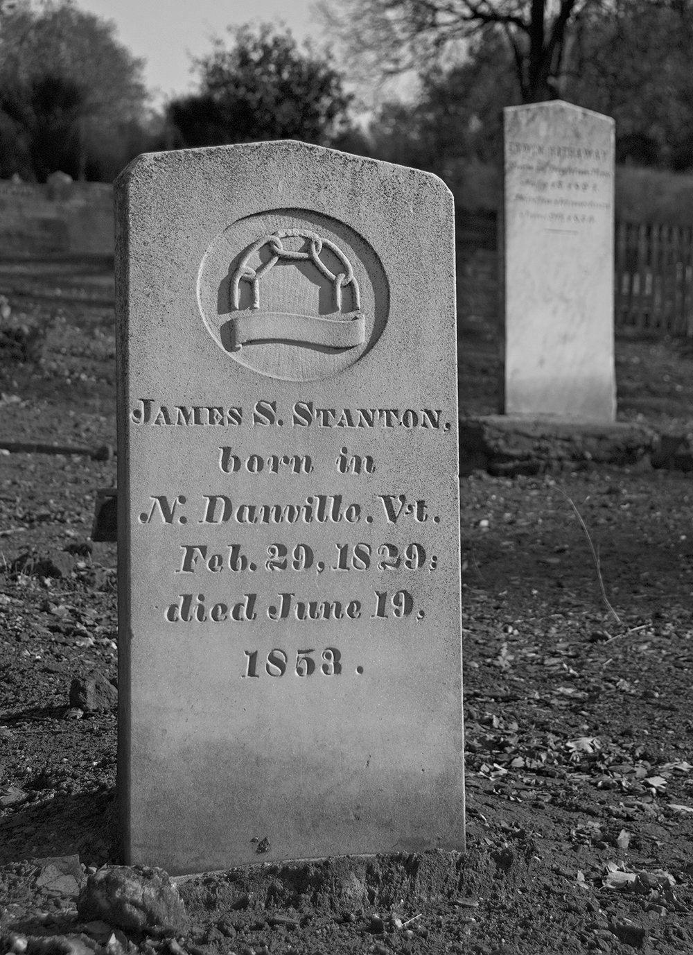 Jamestown Cemetery 1853 Headstone.jpg