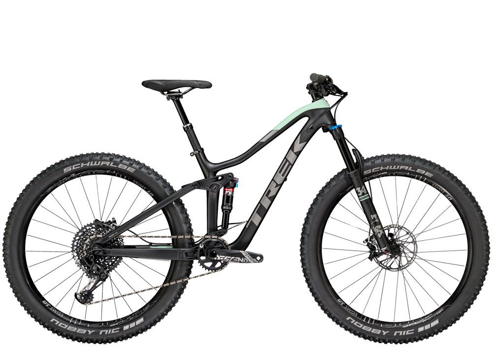Fuel women's specific 9.8 full suspension mountain bike for demo