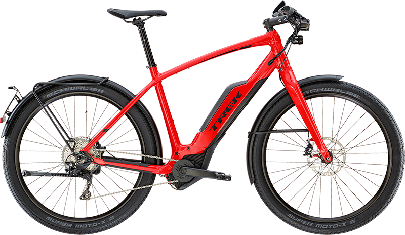 Trek Super Commuter+ 8S. Electric Hybrid Bike, ideal for commuting & getting around town.