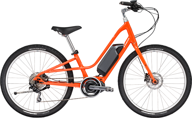 Trek Lift+ Low Step. Electric hybrid Bike, ideal for recreation & getting around town.