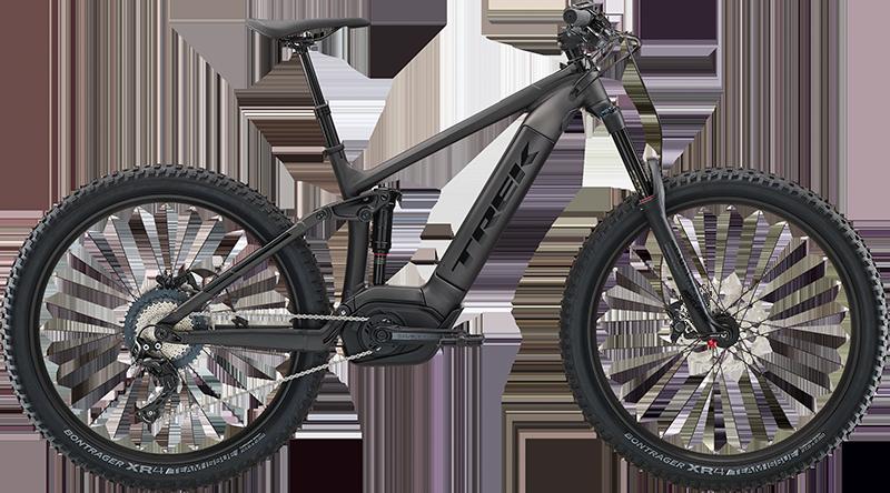 Trek Powerfly FS 7. Electric full suspension mountain Bike, ideal for dirt trail adventures
