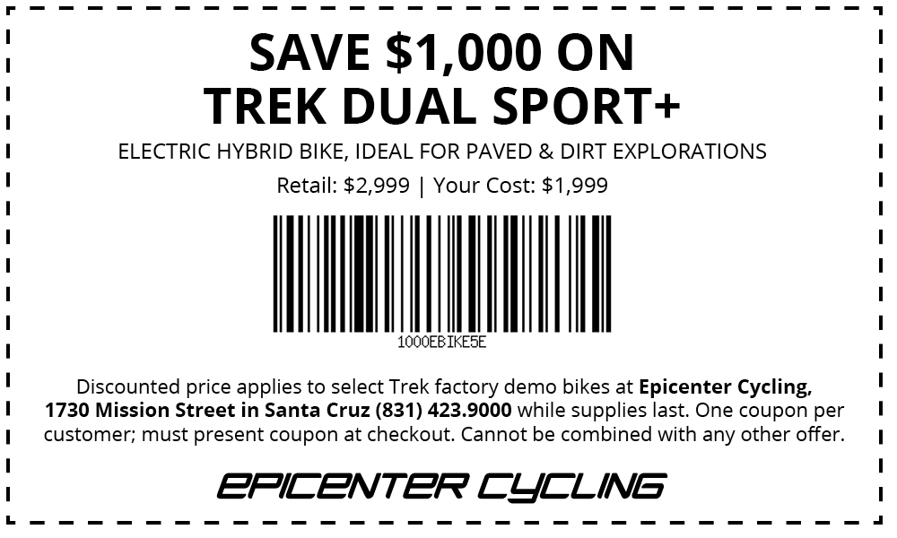 Electric bike coupon.