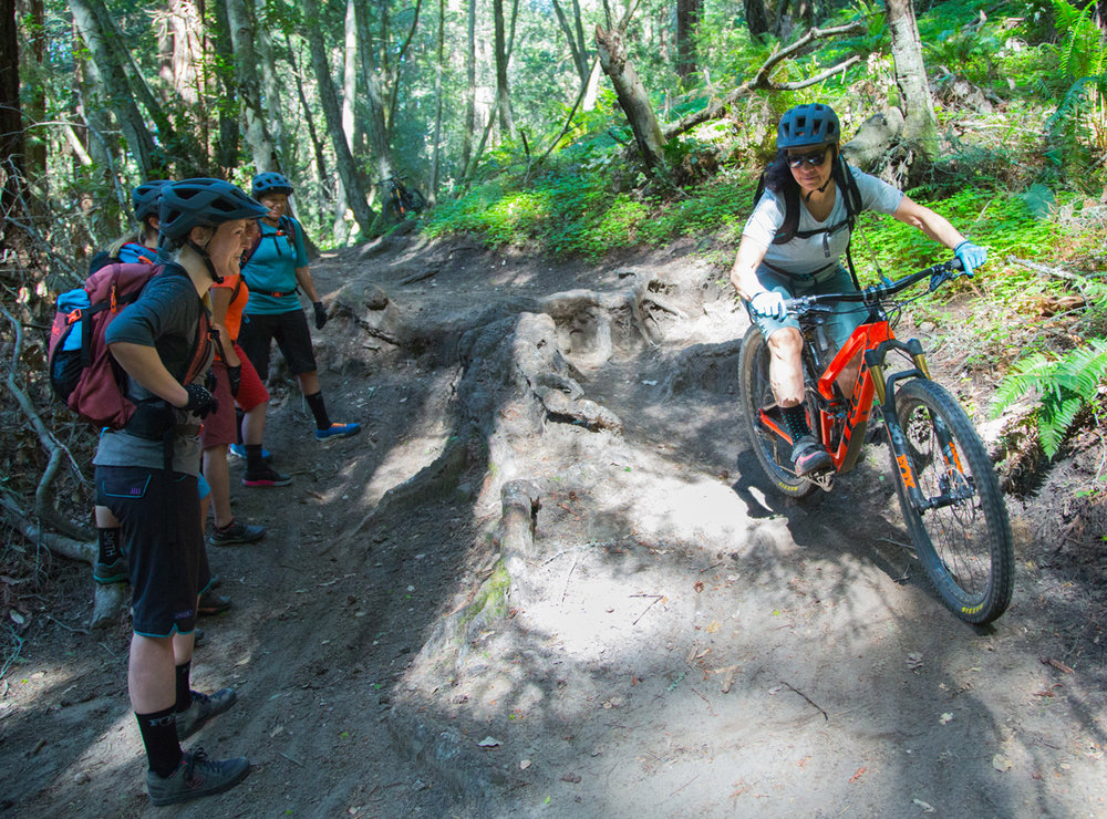 Hone your skills in a supportive environment with experienced instructors. Photo: Bruce Dorman / Trek Dirt Series