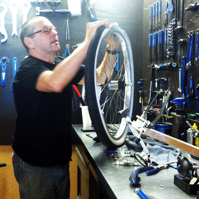 And … that time Keith Bontrager built wheels in our Mission Street store. #truestory