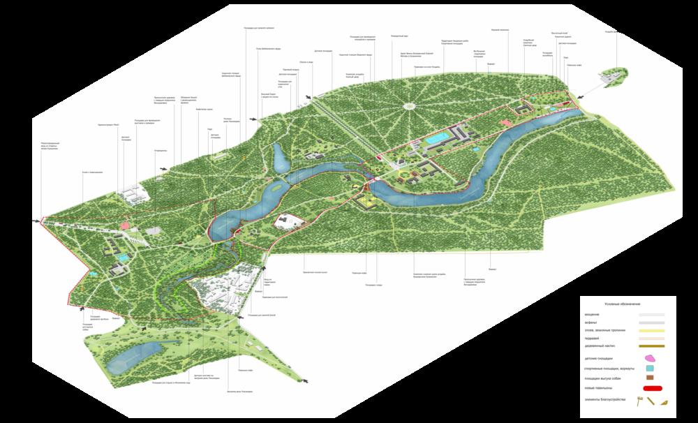 Парк красная пресня схема парка