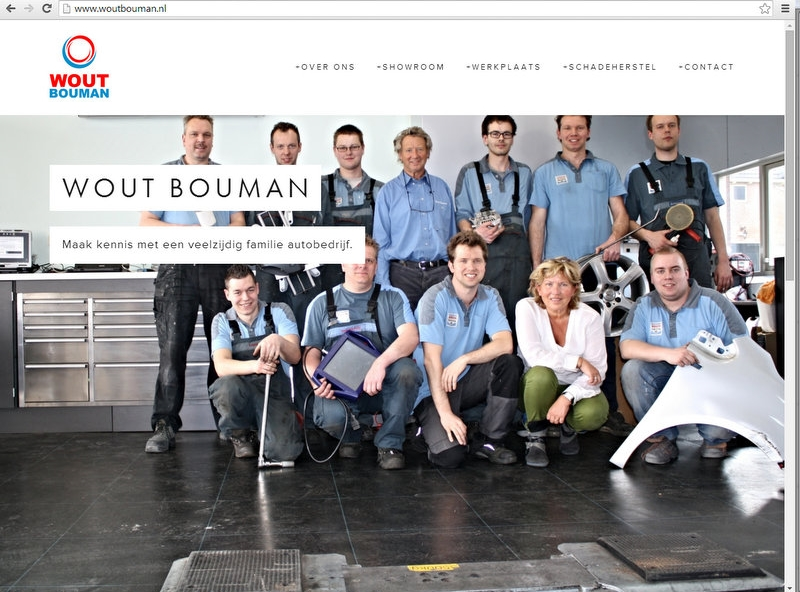 Homepage www.woutbouman.nl