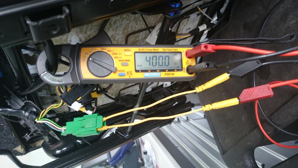 Multimeter geeft oneindig hoge weerstand aan