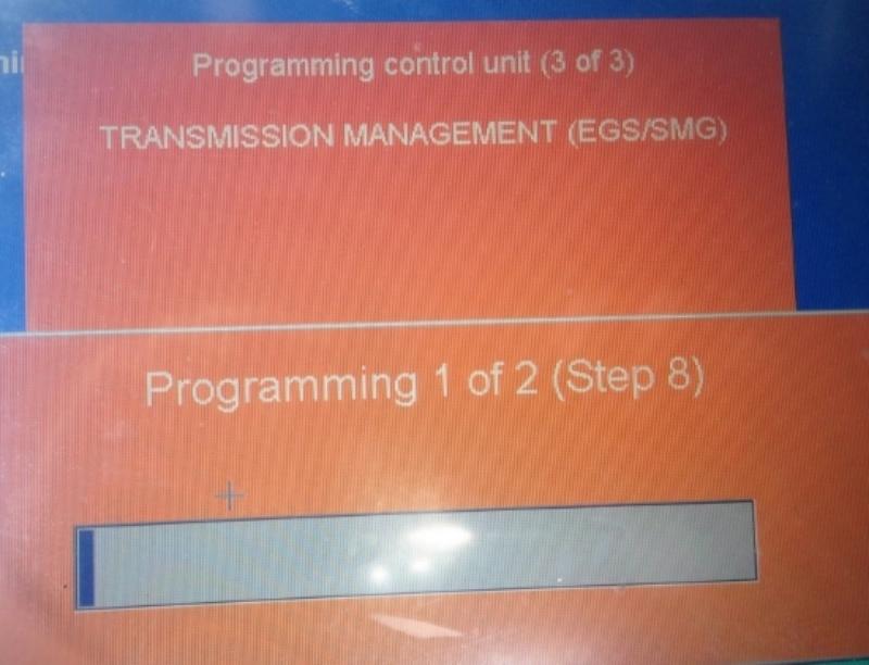 Herprogrammering van de transmissie elektronica (EGS) middels een selectief maatregelpan