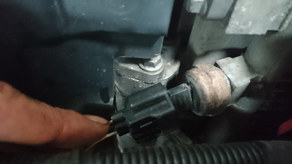 Kleine beschadiging van de aircodruksensor waar vocht in kan komen