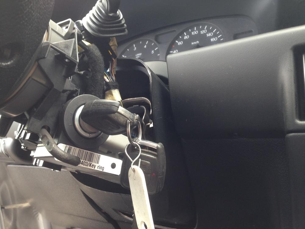 De transponder in de autosleutel maakt altijd onderdeel uit van de startblokkering