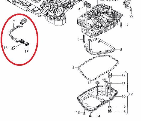 Onderdelen in de automatische versnellingsbak