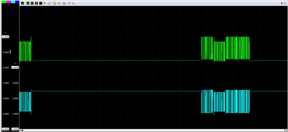 PCM stekker los geeft als resultaat een mooi Can-bus signaal