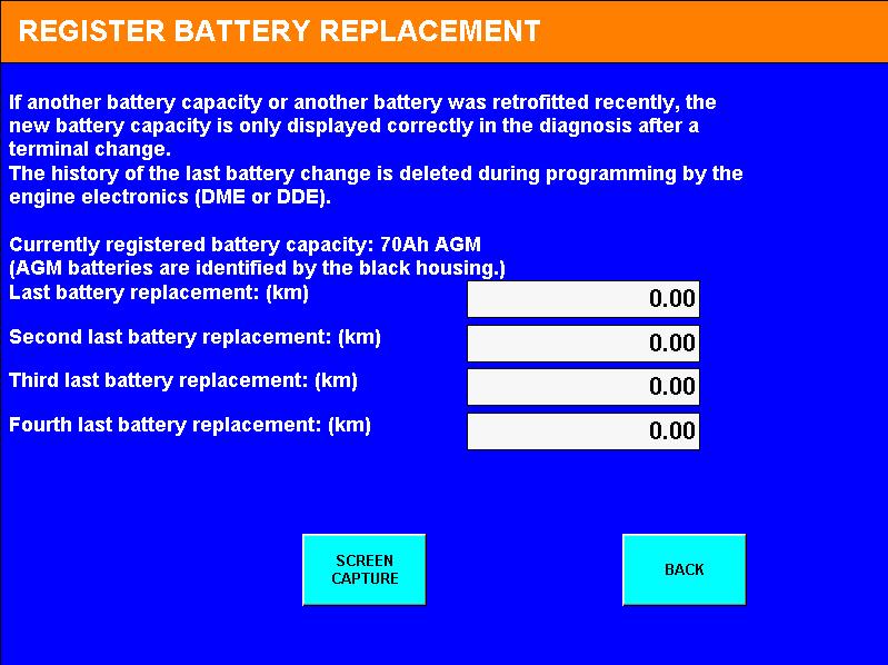 Dit scherm toont ons dat bij de vorige vervanging niet is uitgevoerd