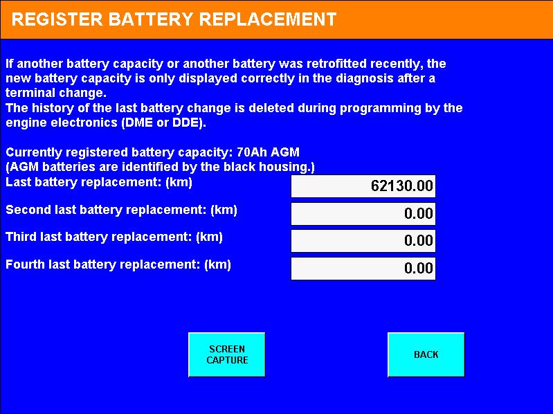 De nieuwe AGM batterij is correct geregistreerd