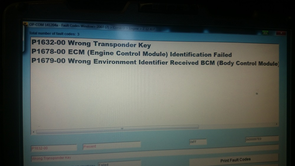 Foutcodes in het motormanagement