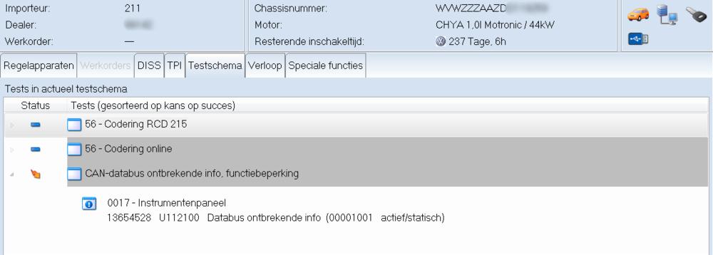 Testplan voor foutcode U1121