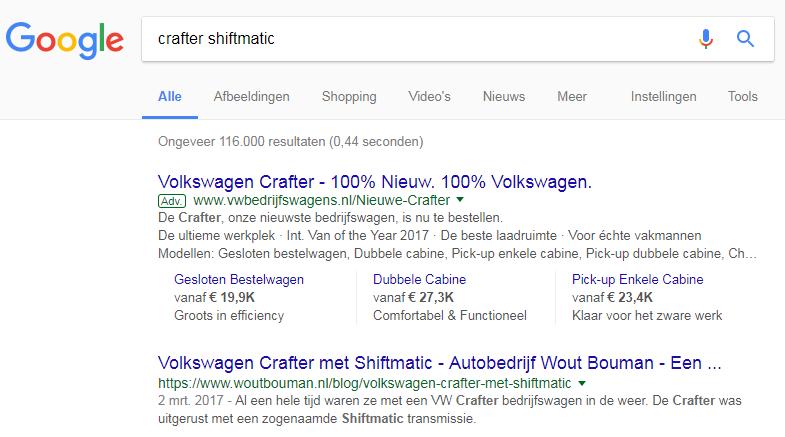 Crafter Shiftmatic Google zoekopdracht, :-)