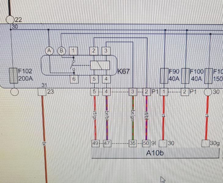 Schema 30G relais
