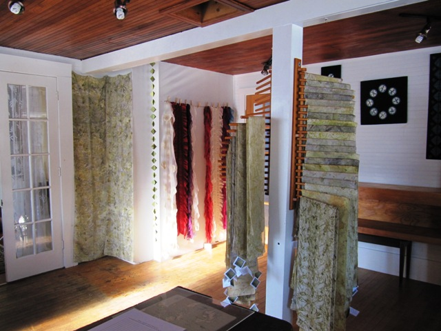 Eco Prints, Nuno Felt and Indigo Shibori Wall Pieces