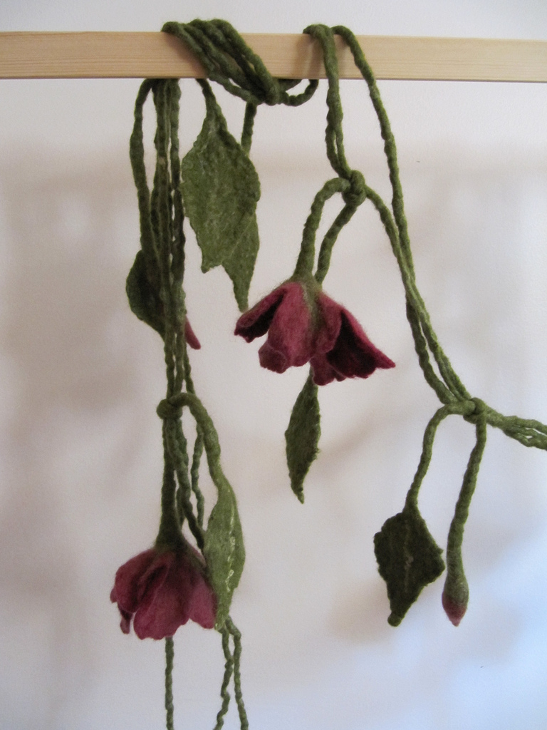 Mim's Flower Flower Vine - wet felted