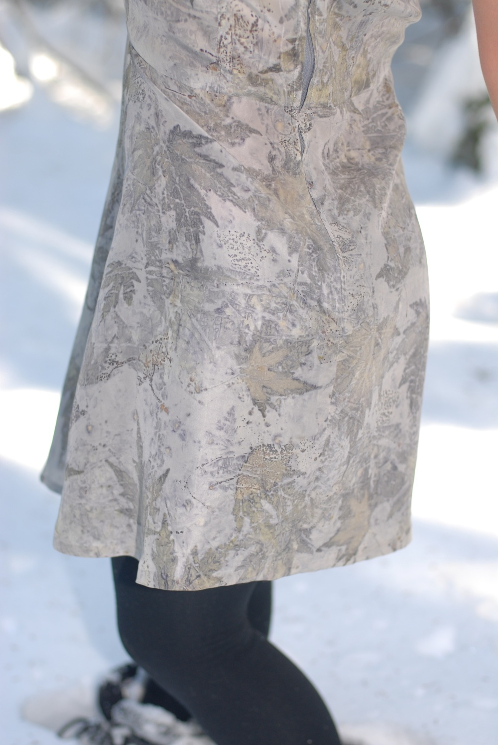 Eco-Printed Dress, back detail