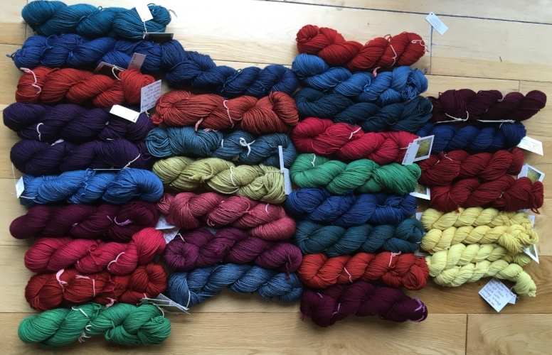 Naturally Dyed Knitting Yarns