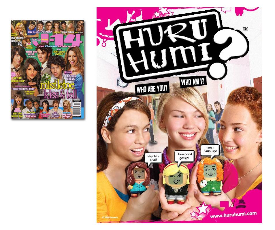 Huru Humi ad in J-14 magazine