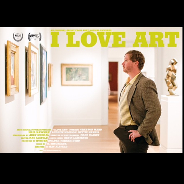 "The boys of Abby Normal are back and more aroused than ever with their newest short, ""I Love Art"" - an Official Selection to the 2015 Cayman Islands Film Festival! (📷 cred: @arsmoney)"