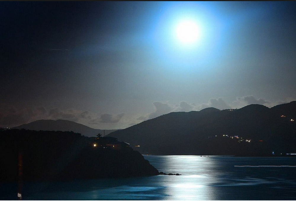 "Witness and photograph the ""SuperMoon"" In St. Croix.  (Stock image)"