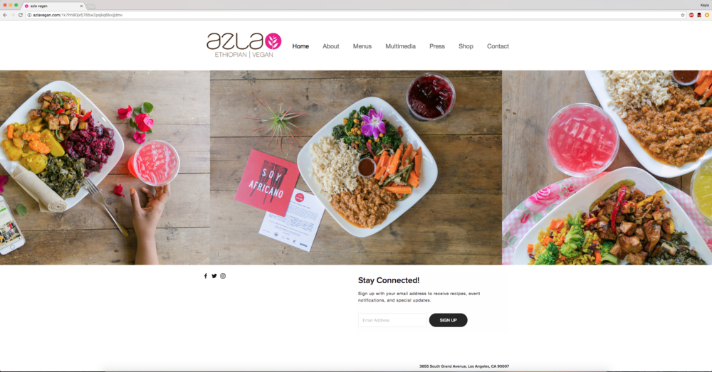 Branding and Food Photography for azla vegan