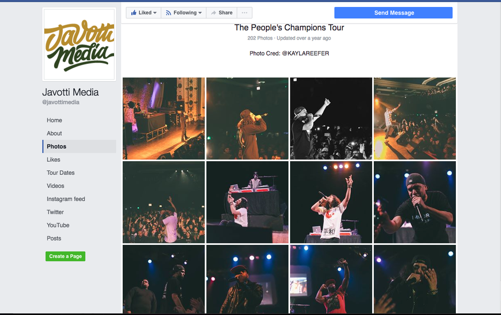 "Tour Photography for Javotti Media ""The People's Champions Tour"""