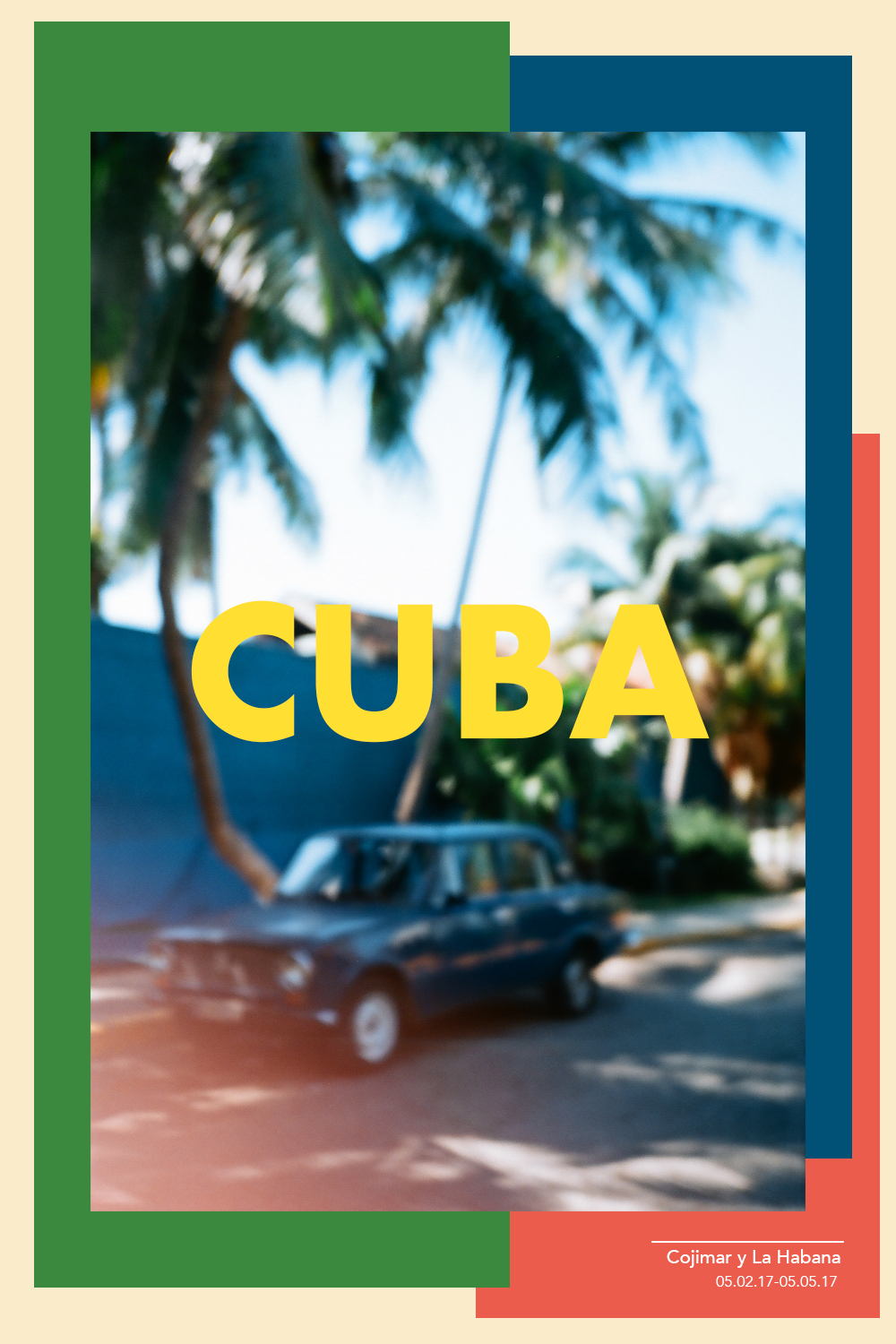 A photographic diary of my recent trip to Cuba.   It was my first time in 2 years traveling abroad alone, and my very first time visiting Cuba. All photos were shot on 35mm and 120mm film.