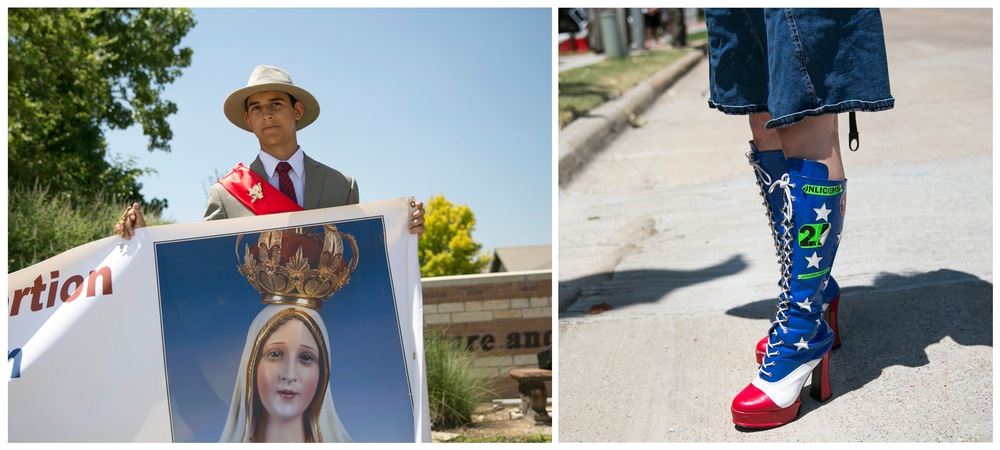 Protesters at an anti-abortion rally in Fort Worth.