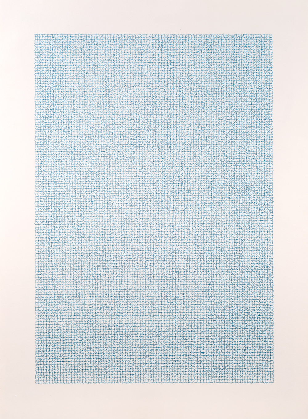 Unknown blue , 2013 / Ink on paper / 76cm x 56cm
