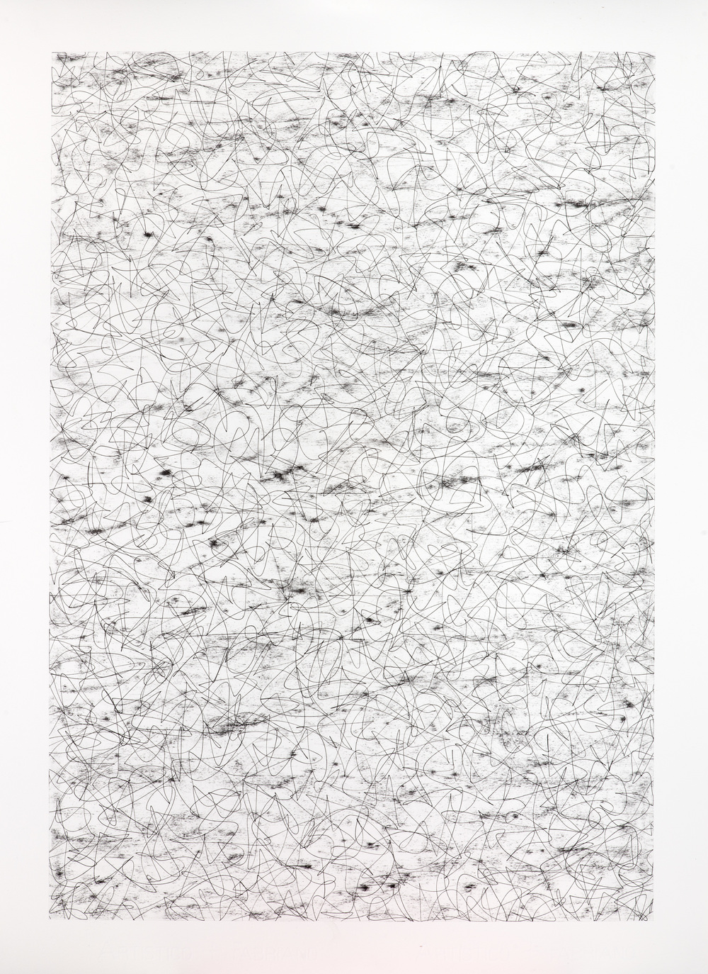 Untitled,  2013 / Charcoal and pen on paper / 76cm x 56cm