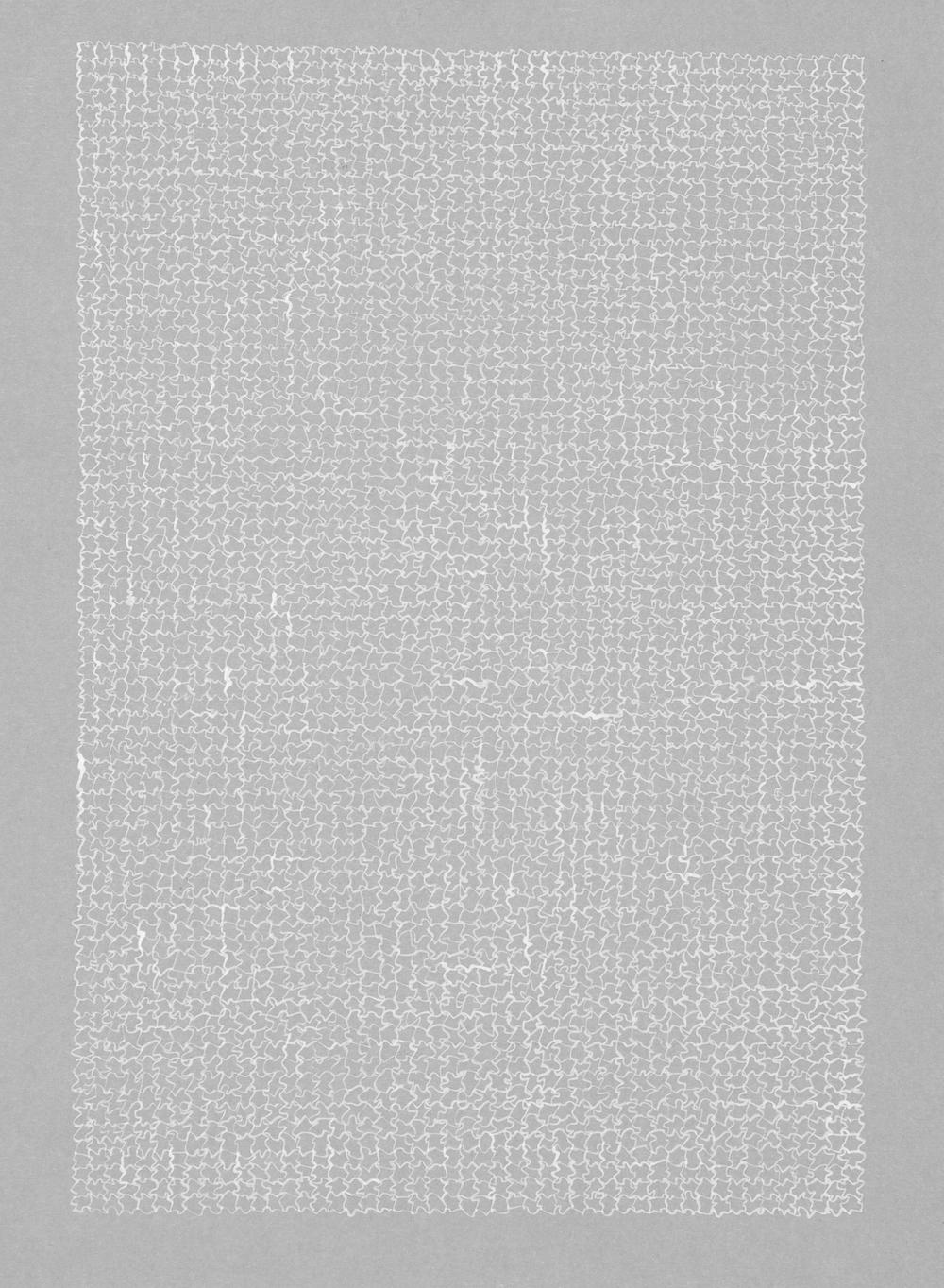 Untitled Grey , 2013 / Ink on paper / 30cm x 20cm