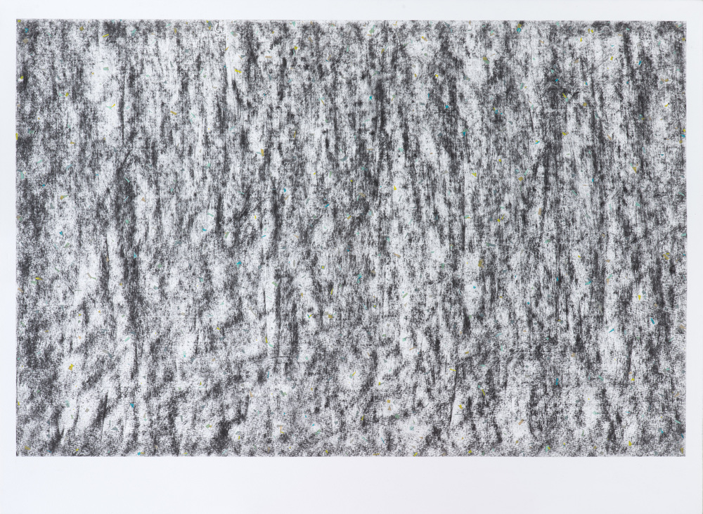 Do do do , 2012 / Charcoal and paper on paper / 56cm x 76cm