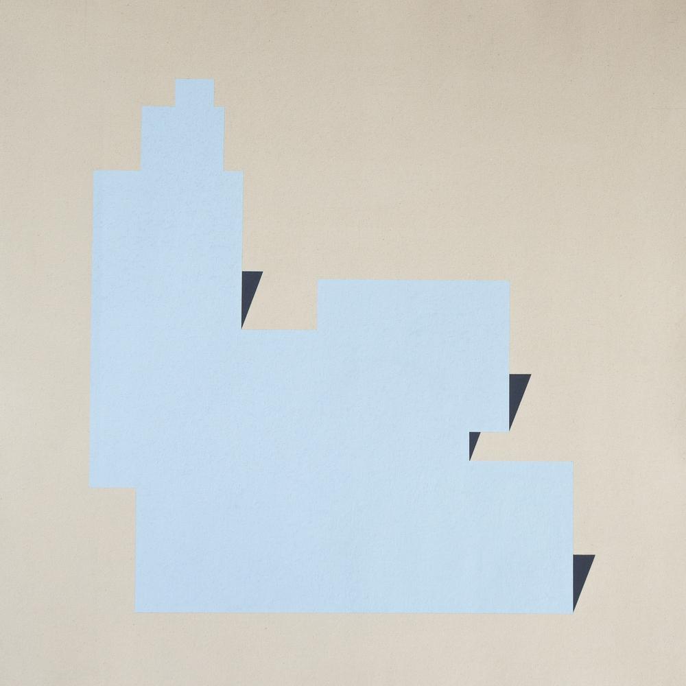 Tras este espástico cielo , 2015 / Oil pastel on canvas / 91cm x 98cm