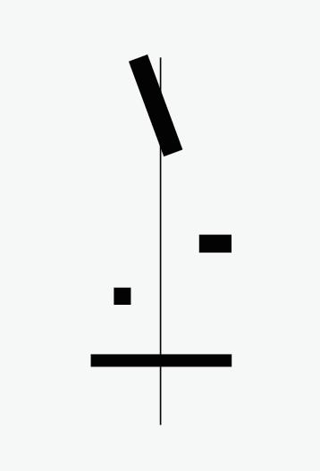 Las cosas sin equilibrio caen como piedras II , 2015 / crayón sobre papel / 56cm x 38cm