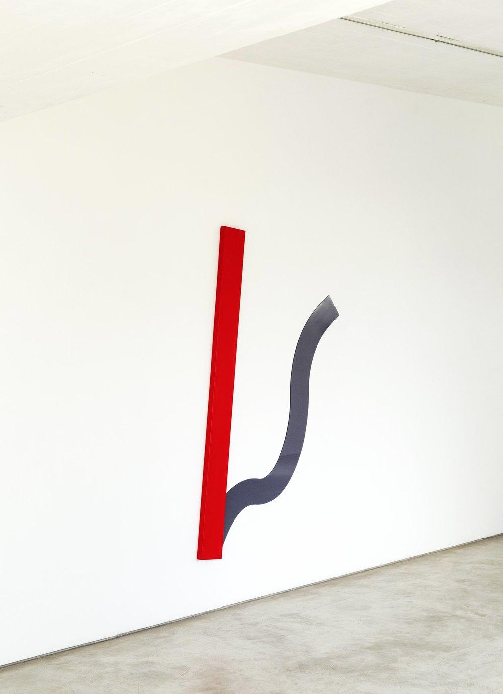 No se puede caminar hacia atrás en el futuro, 2017  / Acrylic on canvas and plexiglas / 180cm x 125cm