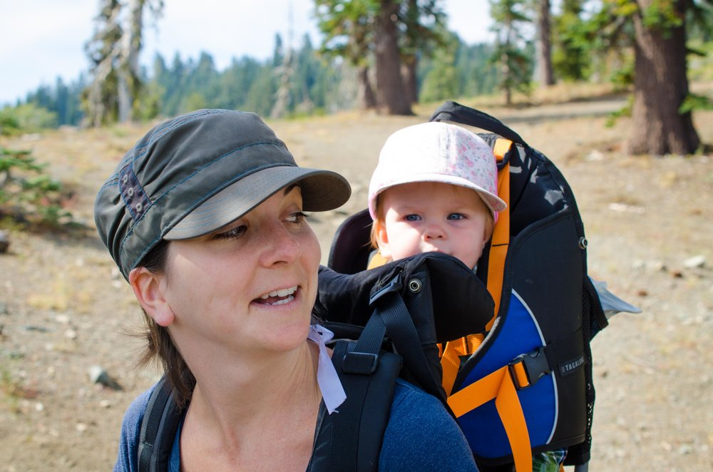 Beautiful wife and baby enjoying the trail!