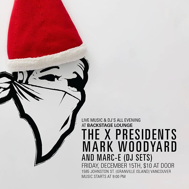 come hang for the Xprez Xmas party @thebackstagelounge ! @markwoodyard will be doing your favourite covers of Christmas covers including Rudolph and the little drummer boy. @marc_e spinnin' some goodness throughout the not so silent night. Come dance! . . . #txp #xprez #woodyard #xmasparty2017 #vancitymusic #backstagelounge #otowstaybizzy
