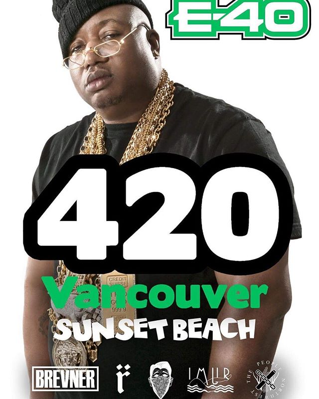 Come get baked with us next week on Sunset Beach. On @ 12:50! @e40 @weareimur @thepeoplenorthwest @brevner  Catch @mattdiamind April 28th with @maestrofreshwes in New West for #droptheneedle !