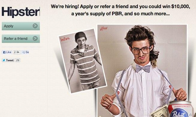 Hipster jobs