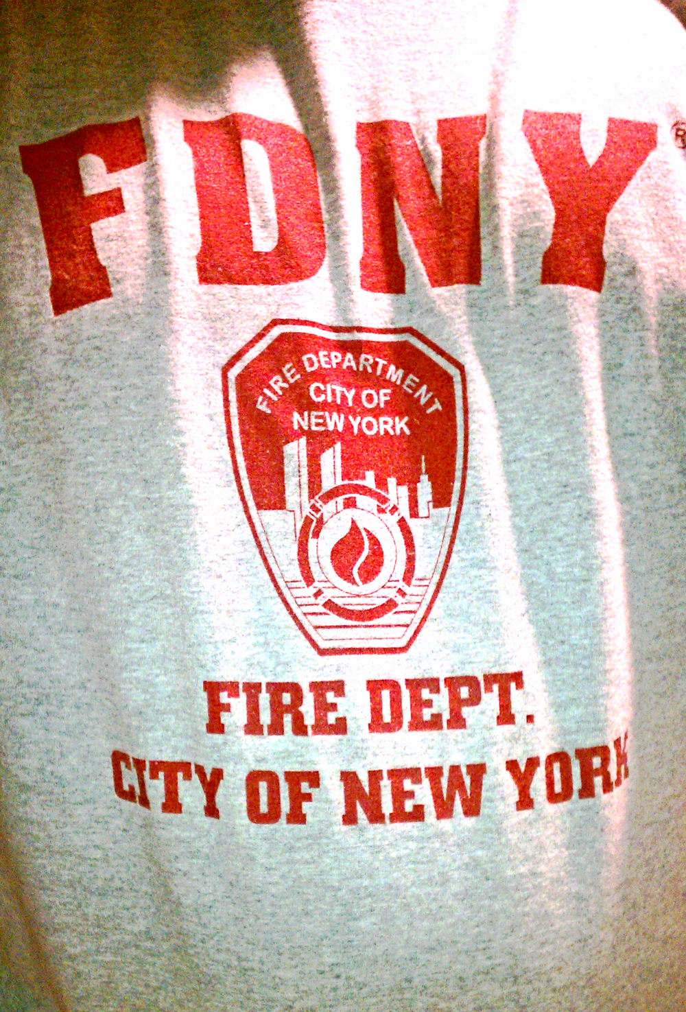 One of the shirts I bought during my NYC trip. I wear it proudly on September 11.